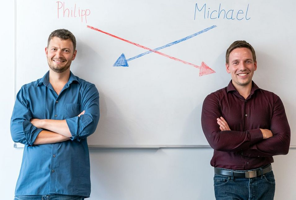 The two founders, Michael Aleithe (CEO) and Philipp Skowron (COO).
